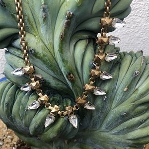 Spiked crystal necklace